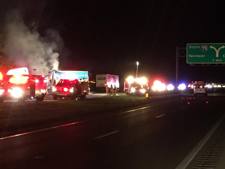 Several emergency crews responded to the scene of a deadly accident on I-79.