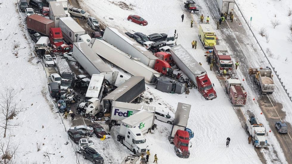 Interstate 81 Northeastern Pennsylvania Pile-Up due to Snow Squalls in March 2017