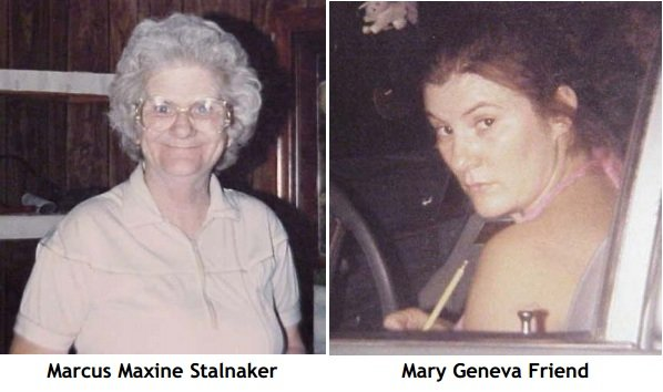 Marcus Maxine Stalnaker, Mary Geneva Friend (Courtesy: West Virginia State Police)