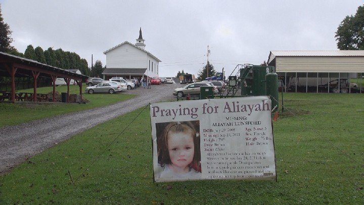 On September 21, dozens packed the Jackson's Mill Baptist Church for a vigil for missing Lewis County girl, Aliayah Lunsford.