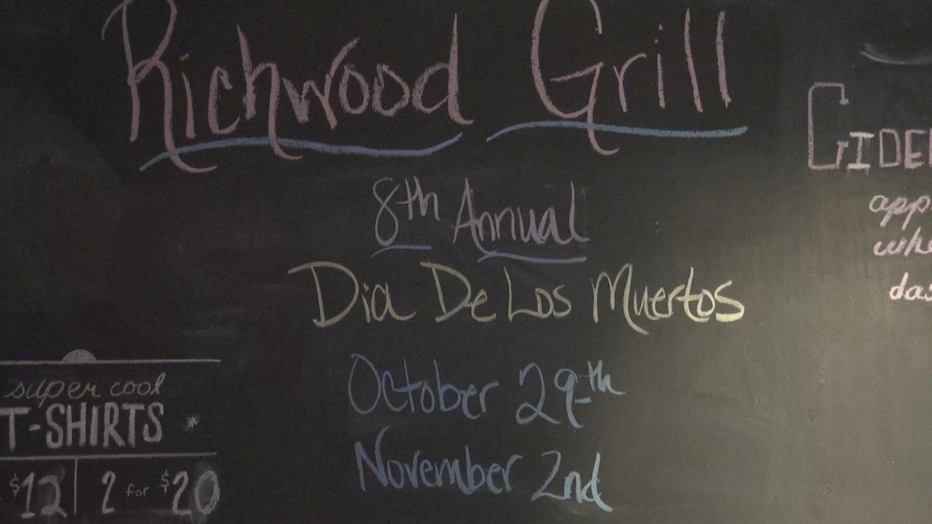 The Richwood Grill will serve 'Day of the Dead' Dinner until Nov. 2