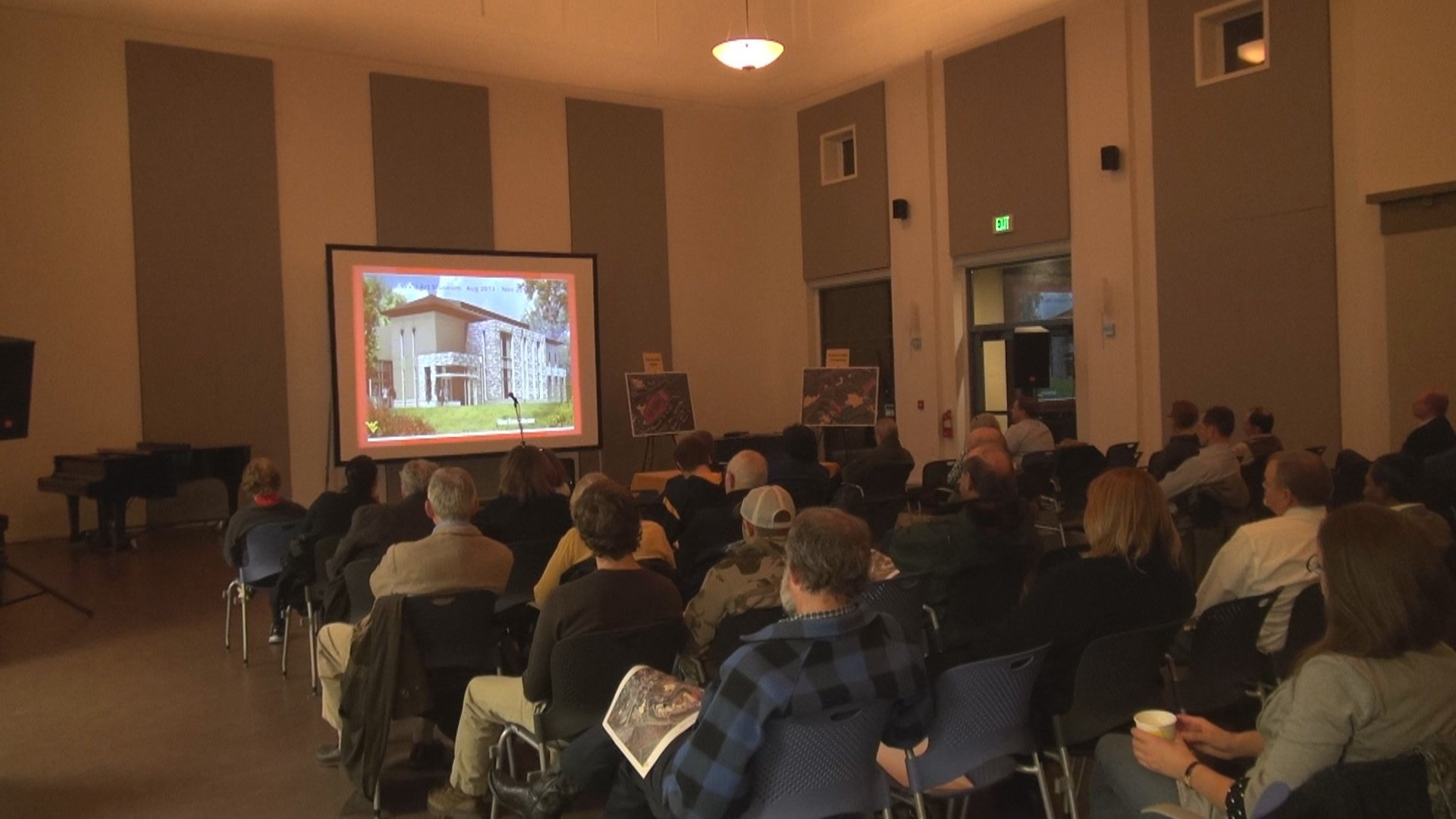 WVU officials held a forum at the old Alumni Center to discuss construction progress