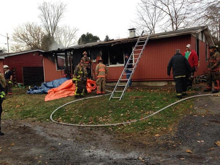 A man is dead after a fire at a home on Parkview Avenue in Westover, according to officials with the Westover Volunteer Fire Department.