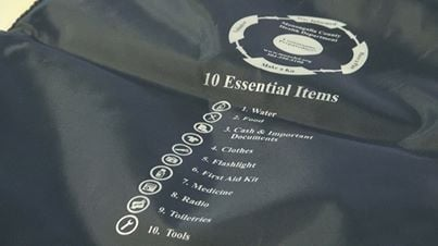 Course Participants were given emergency kits with 10 essential items.