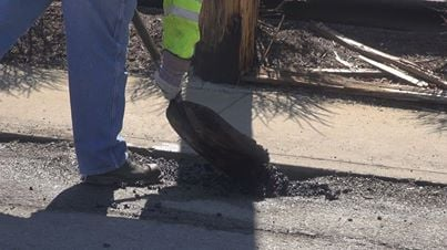 The Director of Public Works and Engineering, Terry Hough, says patching potholes is a season long job.