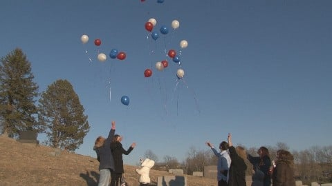 Balloon's being released in memory of Ed Wilson.