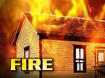 Vacant House Fire in Taylor County