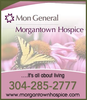 Mon General Morgantown Hospice - sponsorship ad